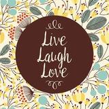 Live Laugh Love Retro Floral White Posters by  Color Me Happy