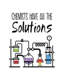 Chemists Have All The Solutions White Posters by  Color Me Happy