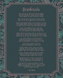 Desiderata Floral Frame Turquoise Posters by  Quote Master
