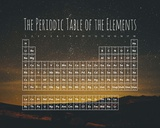 The Periodic Table Of The Elements Night Sky Green Print by  Color Me Happy