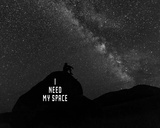 I Need My Space - Black and White Prints by  Color Me Happy