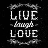 Live Laugh Love-Black Prints by  Color Me Happy