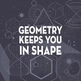 Geometry Keeps You In Shape Dark Pattern Prints by  Color Me Happy