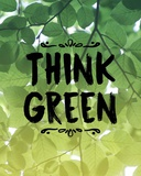 Think Green Ombre Leaves Posters by  Color Me Happy