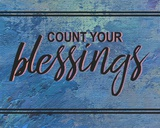 Count Your Blessing-Blue Poster by  Color Me Happy