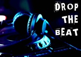 Drop The Beat - Navy and Cyan Poster by  Color Me Happy