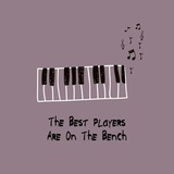 The Best Players Are On The Bench Purple Prints by  Color Me Happy