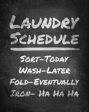 Laundry Schedule Chalkboard Prints by  Color Me Happy