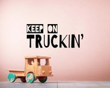 Keep On Truckin' Brown Prints by  Color Me Happy