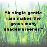 A Single Gentle Rain - Henry Thoreau Quote (Light) Prints by  Quote Master