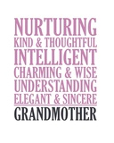 Adjectives for Grandma Print by  Color Me Happy
