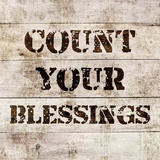 Count Your Blessings In Wood Art by  Color Me Happy