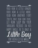 Hold Him A Little Longer - Blue Prints by  Color Me Happy