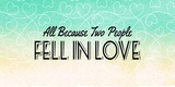 All Because Two People Turquoise Ombre Poster by  Color Me Happy