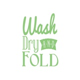 Wash Dry And Fold Green Text Print by  Color Me Happy