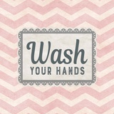 Wash Your Hands Pink Pattern Arte di  Color Me Happy