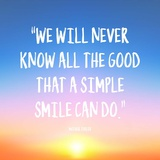 Simple Smile - Mother Teresa Quote (Dawn) Poster by  Quote Master