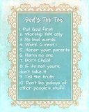 God's Top Ten Blue and Gold Design Prints by  Inspire Me