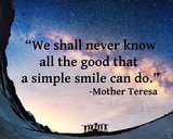 A Simple Smile - Mother Teresa Quote Prints by  Quote Master