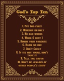 God's Top Ten Brown and Gold Design Prints by  Inspire Me