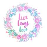 Live, Laugh, Love-Pastel Prints by  Color Me Happy