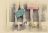 Vintage Fashion Pop of Color Heels and Handbags Prints by  Color Me Happy