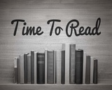 Time To Read - Wood Background Black and White Posters by  Color Me Happy