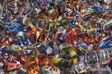 Transformers - Collage Kunstdrucke