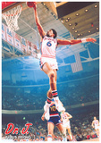 Dr J & Julius Erving - Dunk Poster