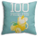 100 Lemonade Problems (Blue) Throw Pillow Throw Pillow