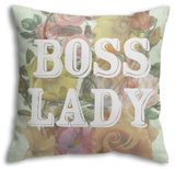 Boss Lady Throw Pillow Throw Pillow