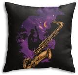 Midnight Jazz Throw Pillow Throw Pillow