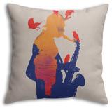 Golden Hour Jazz Throw Pillow Throw Pillow