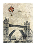 Tower Bridge Balloon Posters by Marion Mcconaghie