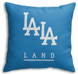 LALA Land Blues Throw Pillow Throw Pillow