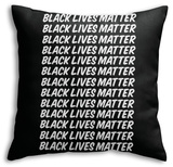 Black Lives Matter Strong Message Echoed Throw Pillow Throw Pillow