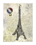 Eiffel Map Prints by Marion Mcconaghie