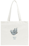 Hang in There- Vertical Sloth Tote Bag Tote Bag