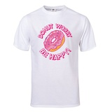 DONUT Worry, Be Happy T-Shirt T-shirts