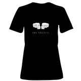 Womens: Free Hugs For Facsists (Noir) T-Shirt T-shirts