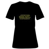 Womens: STOP WARS - Gold T-Shirt T-Shirt