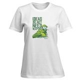 Womens: Ideas Not Weapons - Verde T-Shirt T-shirts