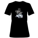 Womens: Ask Before You Pet- Vertical Script T-Shirt T-Shirt