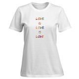 Womens: Love Is Love Is Love T-Shirt T-shirts