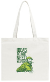 Ideas Not Weapons - Verde Tote Bag Tote Bag