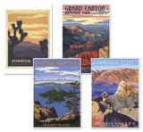 West Coast Parks Poster Set Value Set