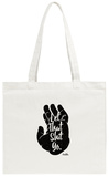 Buddha Hand Says (Distressed Palm Print) Tote Bag Tote Bag