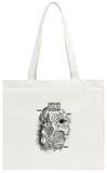 Recipe For True Hoppiness Black & White Stencil Tote Bag Tote Bag