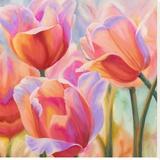 Tulips in Wonderland II Stretched Canvas Print by Cynthia Ann