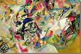 Composition No. 7 Stretched Canvas Print by Wassily Kandinsky